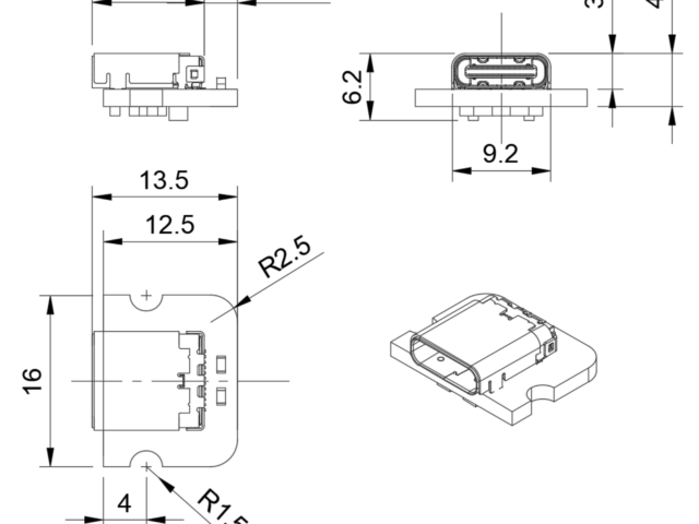 Beast Devices Ant USB-C LiPo charger dimensions.