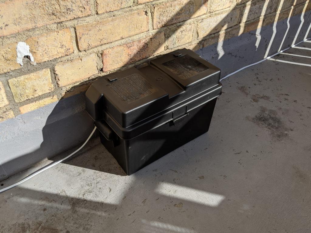 NOCO Genius HM318 Battery Box with Biltema 12V 70Ah Lead Acid Battery (80-3702) inside