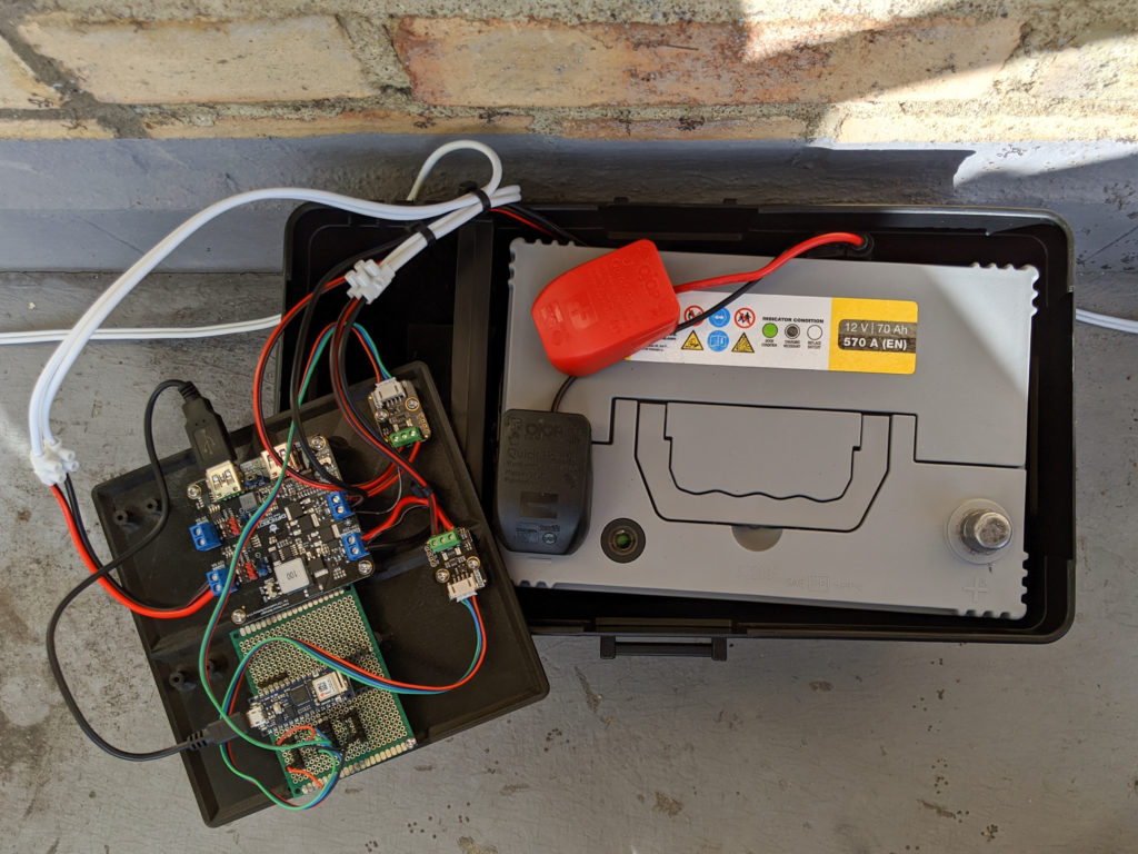 Lead acid battery, DFRobot Solar Power Manager and Arduino Nano 33 IoT