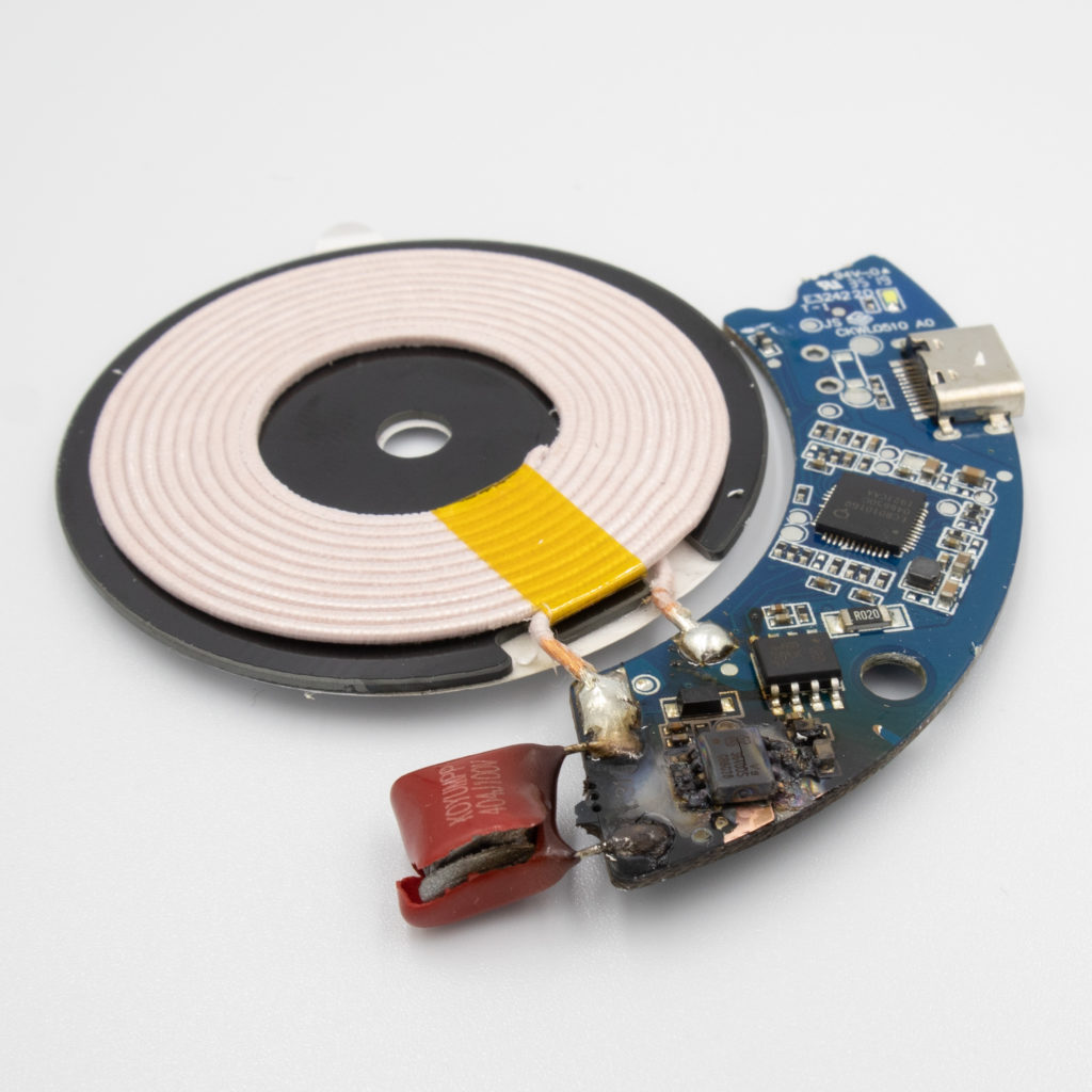 IKEA LIVBOJ Qi Wireless charger burned PCB