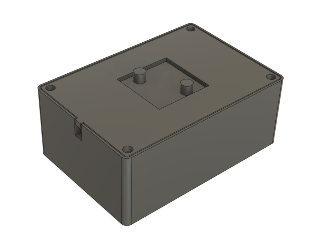 Rendering of a box from CAD.