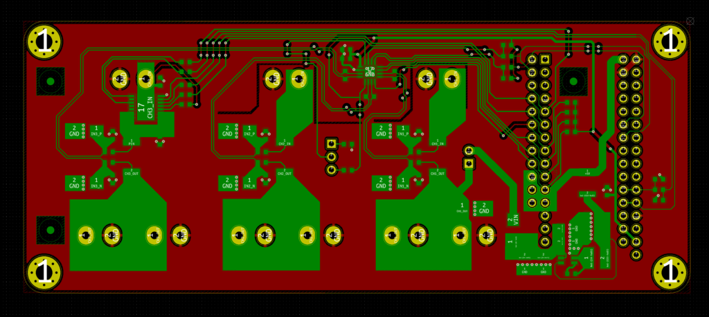 Tougher INA3221 Power Meter PCB KiCAD layout.