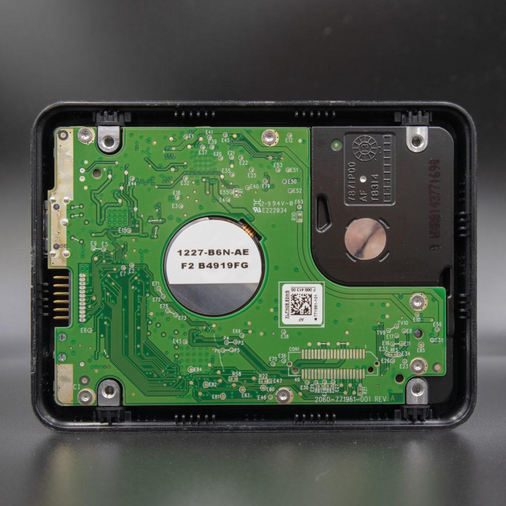 Inside of Western Digital My Passport Ultra USB External Hard Drive